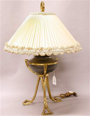 1550 BRASS LAMP BY CHAPMAN. With custom