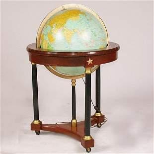 1568 LIGHT UP WORLD GLOBE. Turns in an
