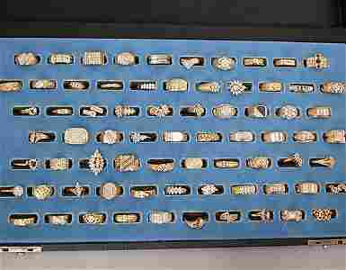 1982: 1982 ASSORTED GOLD & DIAMOND RINGS. Sev
