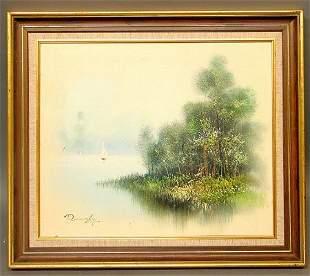 ROMANSKY Signed Oil on Canvas
