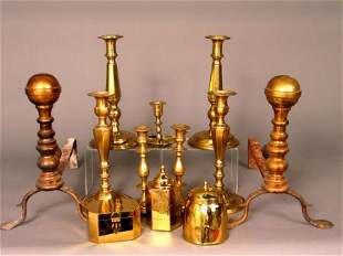 BRASS CANDLESTICKS AND OTHERS