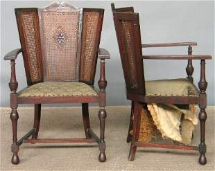 PAIR WM. AND MARY STYLE ARMCHAIRS