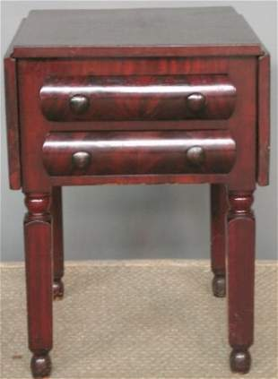 EMPIRE DROPLEAF WORK TABLE. Mahogany rectangular