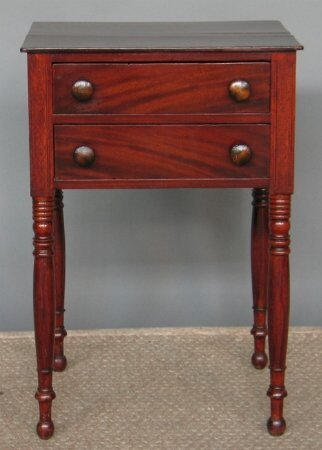 2020: SHERATON TWO DRAWER STAND.  Mahogany and pine sec
