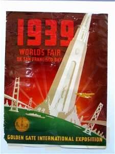 2063: 1939 SAN FRANCISCO WORLDS FAIR POSTER