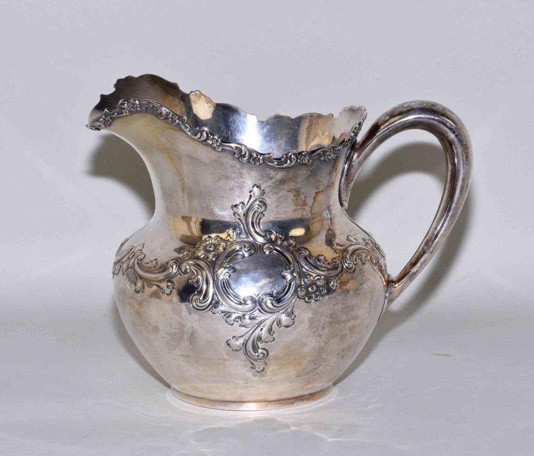 1894 STERLING SILVER 3 PINT WATER PITCHER # 214 -