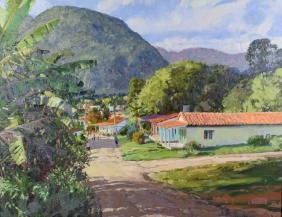 LEN CHMIEL (AMERICAN/CO/IL, b. 1942) - ''Vinales''; Oil