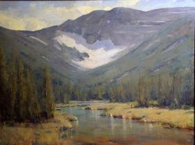 RICK HOWELL (AMERICAN/CO/NM, 20th CENTURY) - ''Montana