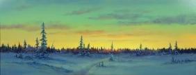 ERNEST ROBERTSON (AMERICAN, b. 1939) - ''Winter Horizon