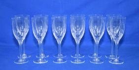 (12) LALIQUE ANGEL CHAMPAGNE FLUTES - Frosted with