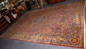 ANTIQUE HAND-KNOTTED ORIENTAL RUG - Measures: 11' x