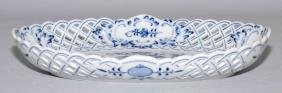 MEISSEN 9'' RETICULATED DISH - Condition: Age