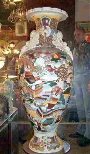 Large 26i H Satsuma vase Signed