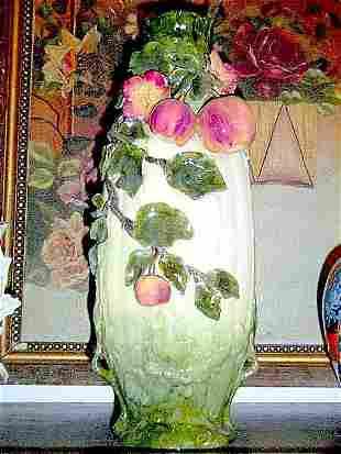 Ceramic German vase Majolica