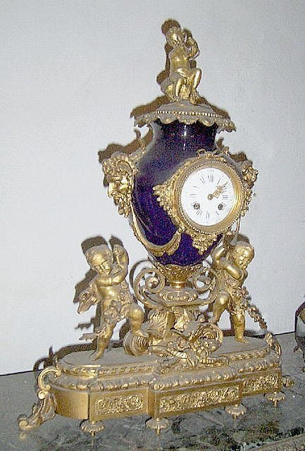 229: Sevres French Mantel Clock