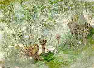 French impressionist landscape signed