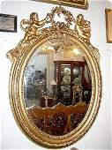 612: Large French Louis XVI wood carved Mirror