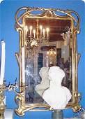 665: Large Art Nouveau French Mirror gilt
