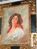 1116: Spanish painting women signed Ballesteros