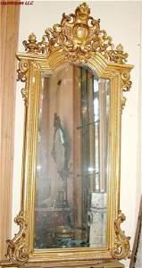 882: Large French Louis XVI Mirror gilt