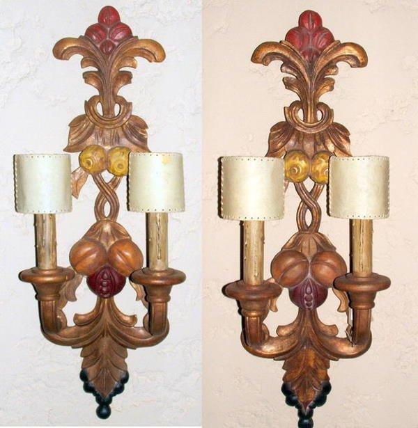 21014A: Art Deco pair of  sconces Sue et Mare style