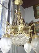 2682: Empire style  French Chandelier 8 lights