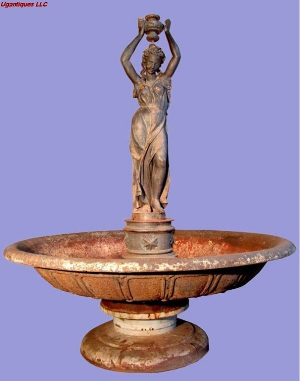 31050: Large cast iron fountain lifesize sculpture