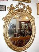 3612: Large French Louis XVI wood carved Mirror