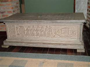Hand Carved Egyptian Chest