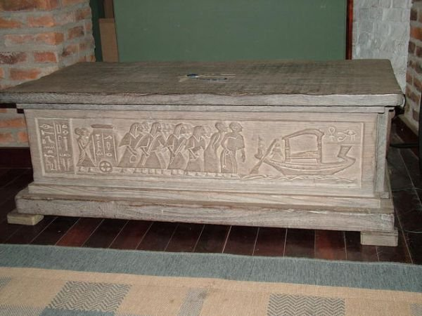 1238: Hand Carved Egyptian Chest