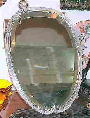 Orivit German table Mirror Silverplated