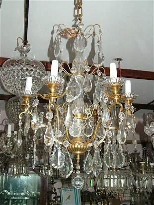 Versailles Bronze and crystal Chandelier 6L