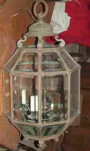 Large bronze Architectural lantern 4 Lights