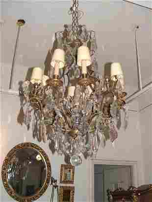 12L bronze crystal Versailles chandelier