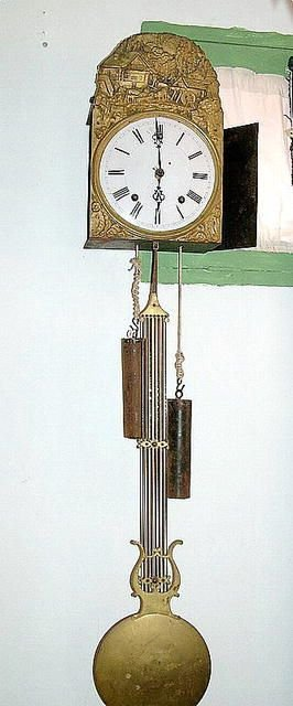 1225: 18th grandfather clock without case