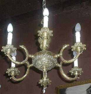 6 Lights French Bronze Chandelier
