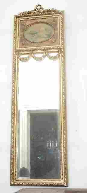Louis XVI Style French Trumeau tall mirror