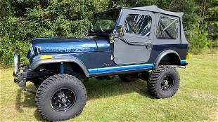 1982 AMC CJ7 JEEP 2 DOOR WAGON BLUE