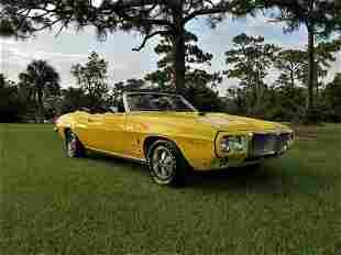 1969 FIREBIRD RAM AIR CONVERTIBLE GOLDENROD YELLOW