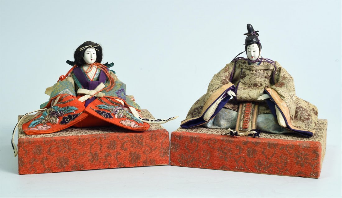 FINE SET OF TWO DOLLS FOR THE HINAMATSURI