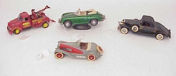 101: LOT OF 4 CLASSIC CAR MODELS DANBURY MINT ETC NO RE