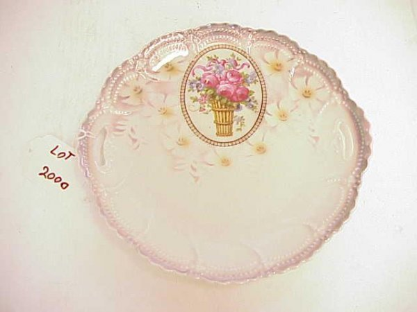 2000: GERMAN DECORATIVE TWO HANDLED TRAY NR