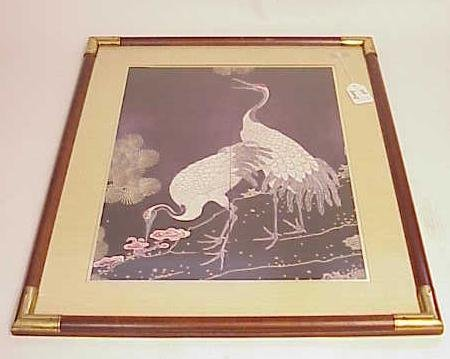 2005: LARGE FRAMED PRINT OF HERONS NO RESERVE