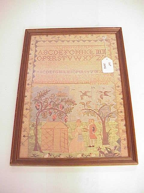 2006: FRAMED PRINT OF A SAMPLER NO RESERVE