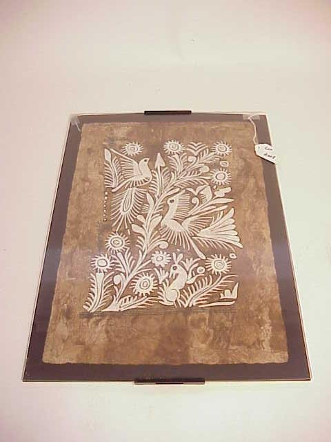 2008: FRAMED PAPER ART PIECE NO RESERVE