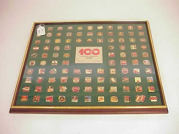 2012: LT ED COCA COLA CENTENNIAL PIN SERIES FRAMED