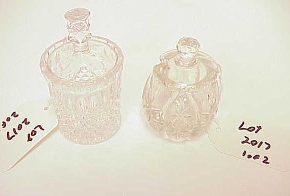 2017: LOT OF 2 CRYSTAL COVERED MUSTARD POTS NR
