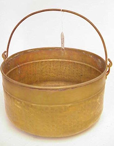2018: HAMMERED BRASS BUCKET WITH HANDLE