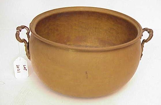 2021: BRASS PLANTER POT WITH HANDLES NO RESERVE