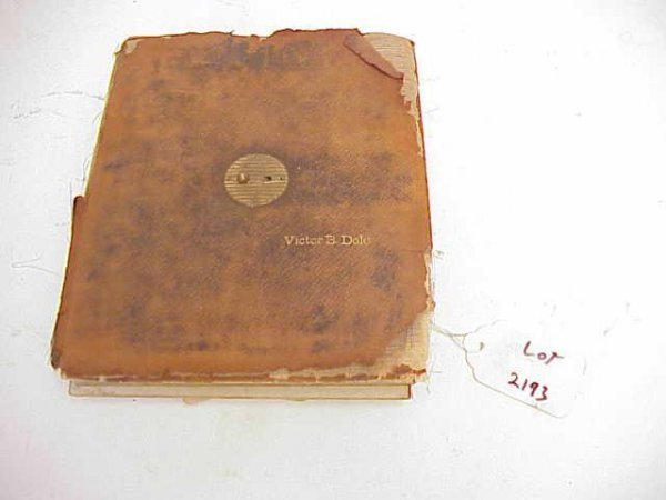 2193: VICTOR B DOLD PHOTO ALBUM WITH PICTURES